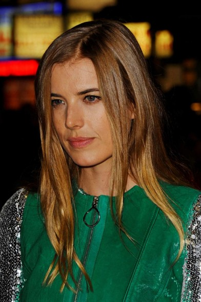 Agyness Deyn in green leather & sequins attends the 'Sunset Song' Premiere at the BFI London Film Festival, Leicester Square, London 15 October 2015. Celebrity style | hair & beauty