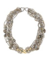 Alexis Bittar Double-Padlock Chunky Bib Necklace – statement jewellery | large collar necklaces
