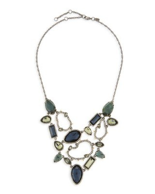 Alexis Bittar Elements Confetti Link Bib Necklace – statement jewellery – crystal necklaces - flipped