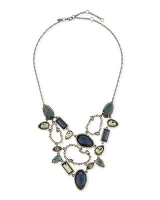 Alexis Bittar Elements Confetti Link Bib Necklace – statement jewellery – crystal necklaces