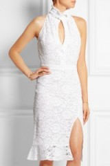 ALTUZARRA Keith ruffled lace dress white – as worn by Olivia Palermo in a photoshoot for Holt Renfrew, October 2015. Celebrity fashion | style icons | star style | designer dresses | what celebrities wear at photoshoots