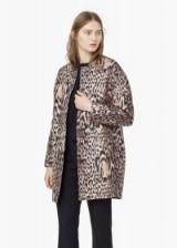 MANGO animal print coat. Autumn / winter fashion – womens coats – printed outerwear