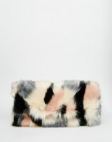 Luxe style bags – ASOS Co-ord Faux Fur Blocked Clutch Bag. Luxury looks ~ fluffy handbags ~ accessories