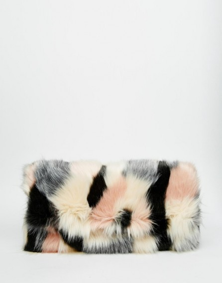 Luxe Style Bags Asos Co Ord Faux Fur Blocked Clutch Bag Luxury Looks