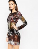 ASOS NIGHT Embellished Ombre Mini Dress. Sequined party dresses – embellished evening wear – going out glamour – sequins