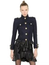 BALMAIN CROPPED WOOL JACKET ~ designer military jackets ~ luxury fashion
