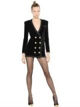 BALMAIN DOUBLE BREASTED VELVET DRESS ~ designer evening dresses ~ luxury occasion wear ~ jacket style mini dresses