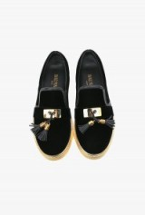 BALMAIN velvet tassel slip on sneakers ~ designer shoes ~ luxury flats