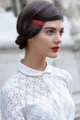 red lips, red hair accessory…just add red!