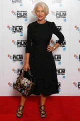 Helen Mirren looked sensational in this Dolce & Gabbana ensemble, attending the 'Trumbo' photocall at the BFI London Film Festival, 8 October 2015. Celebrity style | red carpet fashion | designer dresses | LBD