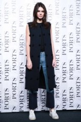 Model Kendall Jenner at the Ports 1961 show during Shanghai Fashion Week. Celebrity style – outfits