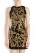 BALMAIN Black and gold studded mini dress ~ luxury evening dresses ~ designer occasion wear ~ embellished fashion
