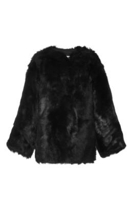 R13 Black Shearling Military Jacket