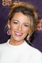 Blake Lively in 2013 with her hair in a messy updo. #blakelively celebrity hairstyles – updos – makeup & beauty