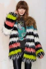 Bohème Total Softy Faux Fur Coat. Winter coats – multicoloured jackets – warm fluffy outerwear