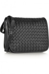 BOTTEGA VENETA Intrecciato leather shoulder bag black – as worn by Kate Upton out in New York City, 30 October 2015. Celebrity fashion | star style | what celebrities wear / carry | designer handbags | luxury bags