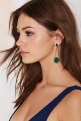 Bottom Line Drop Earrings green. Fashion jewellery | pendant earrings