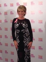 Ruth Langsford in a lovely glamorous sheer black dress with silver detail #BreastCancerCare