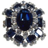 Alice Joseph Vintage 1967 Christian Dior Diamanté Encrusted Brooch, Blue/White – 20th century jewellery – brooches – designer costume jewelry – accessories
