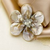 Pearl rose brooch. Brooches – floral jewellery