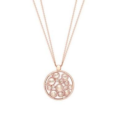 London Road 9ct Gold Diamond Bubble Cluster Pendant, Rose Gold/Moonstone ~ pendants ~ necklaces - flipped