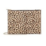 Aspinal of London The Soho Flat Clutch – animal prints – leopard print evening bags – occasion handbags