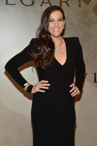 Stunning Liv Tyler wears Bulgari jewels, attending the BVLGARI & ROME Eternal Inspiration Opening Night, held in New York City, 13 October 2015. Celebrity style – celebrities at events