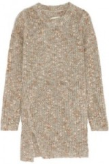 BY MALENE BIRGER Giolina ribbed bouclé sweater. Womens knitwear | slim fit jumpers | asymmetric sweaters | knitted fashion