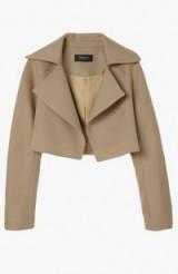 DEREK LAM Crop Jacket in Camel – as worn by Tamara Ecclestone out in London, 13 October 2015. Celebrity fashion   designer cropped jackets   what celebrities wear