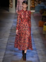ERDEM Cameron silk-organza dress ~ designer clothes ~ red floral dresses ~ luxury clothing