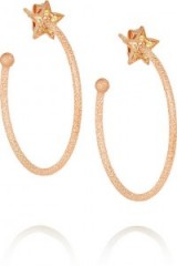 CAROLINA BUCCI Shooting Star 18-karat rose gold sapphire earrings. Fine jewellery | hoop earrings | yellow sapphires