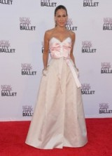 Sarah Jessica Parker on the red carpet in a pale pink Prabal Gurung strapless gown, attends the 2013 New York City Ballet Fall Gala. SJP fashion | style icons | designer gowns