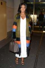 Love this look from Gabrielle Union the coat and its colours are really striking ~ celebrity fashion ~ outfits ~ style