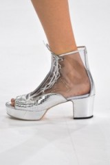 Chanel RTW Spring/Summer 2016 Paris Fashion Week. runway details ~ designer trends ~ luxe accessories ~ silver platform lace up shoes