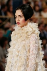 CHANEL Couture Fall 2015 ~ chic style ~ designer clothing ~ stylish ~ classic elegance ~ cream ruffles & lace