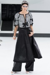 Chanel RTW Spring/Summer 2016 Paris Fashion Week. runway clothing ~ designer trends ~ silver sequins ~ bow & sequin embellished tops ~ luxe outfits