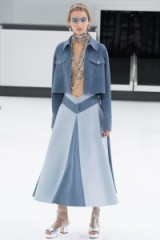 Chanel RTW Spring/Summer 2016 Paris Fashion Week. runway clothing ~ designer trends ~ catwalk accessories ~ chunky silver & transparent booties ~ wide A-line skirts ~ cropped jackets