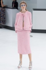Chanel RTW Spring/Summer 2016 Paris Fashion Week. runway clothing ~ designer trends ~ pink suits ~ skirts & jackets