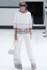 Chanel RTW Spring/Summer 2016 Paris Fashion Week. runway clothing ~ designer trends ~ chic outfits ~ white trouser suits