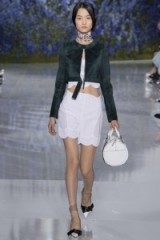 Christian Dior Ready To Wear S/S 2016 at PFW. runway fashion ~ spring/summer trends ~ designer clothing ~ scalloped shorts & tops ~ luxe outfits
