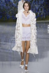 Christian Dior Ready To Wear S/S 2016 at PFW. runway fashion ~ spring/summer trends ~ designer clothing ~ scalloped tops & shorts ~ embellished coats ~ luxe outfits