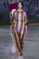 Christian Dior Ready To Wear S/S 2016 at PFW. runway fashion ~ spring/summer trends ~ designer clothing ~ sheer fabrics