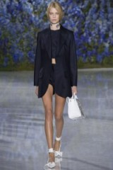 Christian Dior RTW S/S 2016 at Paris Fashion Week. runway fashion ~ spring/summer trends ~ designer clothing ~ navy tailored jackets ~ white accessories