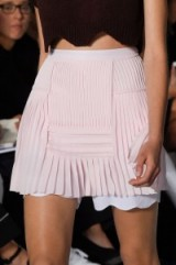 Dior details Spring/Summer 2016 PFW. ~ runway trends ~ designer fashion ~ nude pleated mini skirts