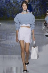 Dior Spring/Summer 2016 PFW. runway trends ~ designer fashion ~ catwalk accessories ~ chic holiday outfits ~ luxe style ~ high waisted shorts ~ cropped oversized ribbed sweaters