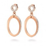 Folli Follie – CLASSY EARRINGS rose gold ~ hoop earrings ~ crystal jewellery ~ evening & party accessories