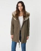 JIGSAW Parka With Shawl Collar khaki. Autumn/winter coats – warm casual jackets – warm weekend clothing