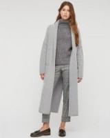 JIGSAW Rib Collar Boiled Wool Coat grey. Winter coats | autumn outerwear | womens fashion | stylish clothing