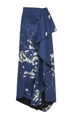 JOHANNA ORTIZ Cotton Floral Printed Mai Long Skirt - flipped