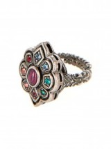 GUCCI Crystal and palladium-plated ring – designer fashion jewellery – statement rings – Swarovski crystals